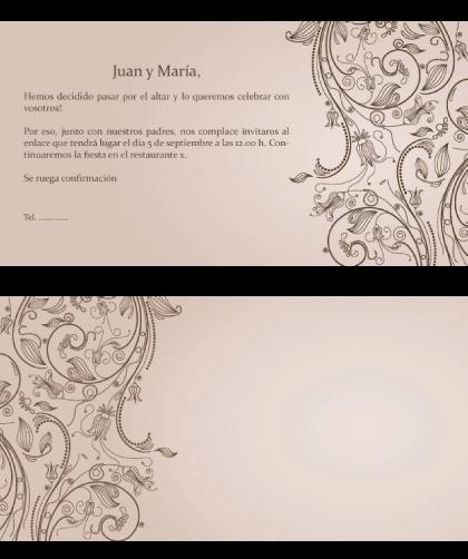 texto de las invitaciones