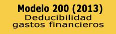 Novedad Modelo 200: Deducibilidad gastos financieros